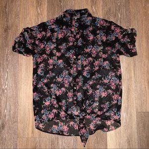 Forever 21 sheer floral blouse